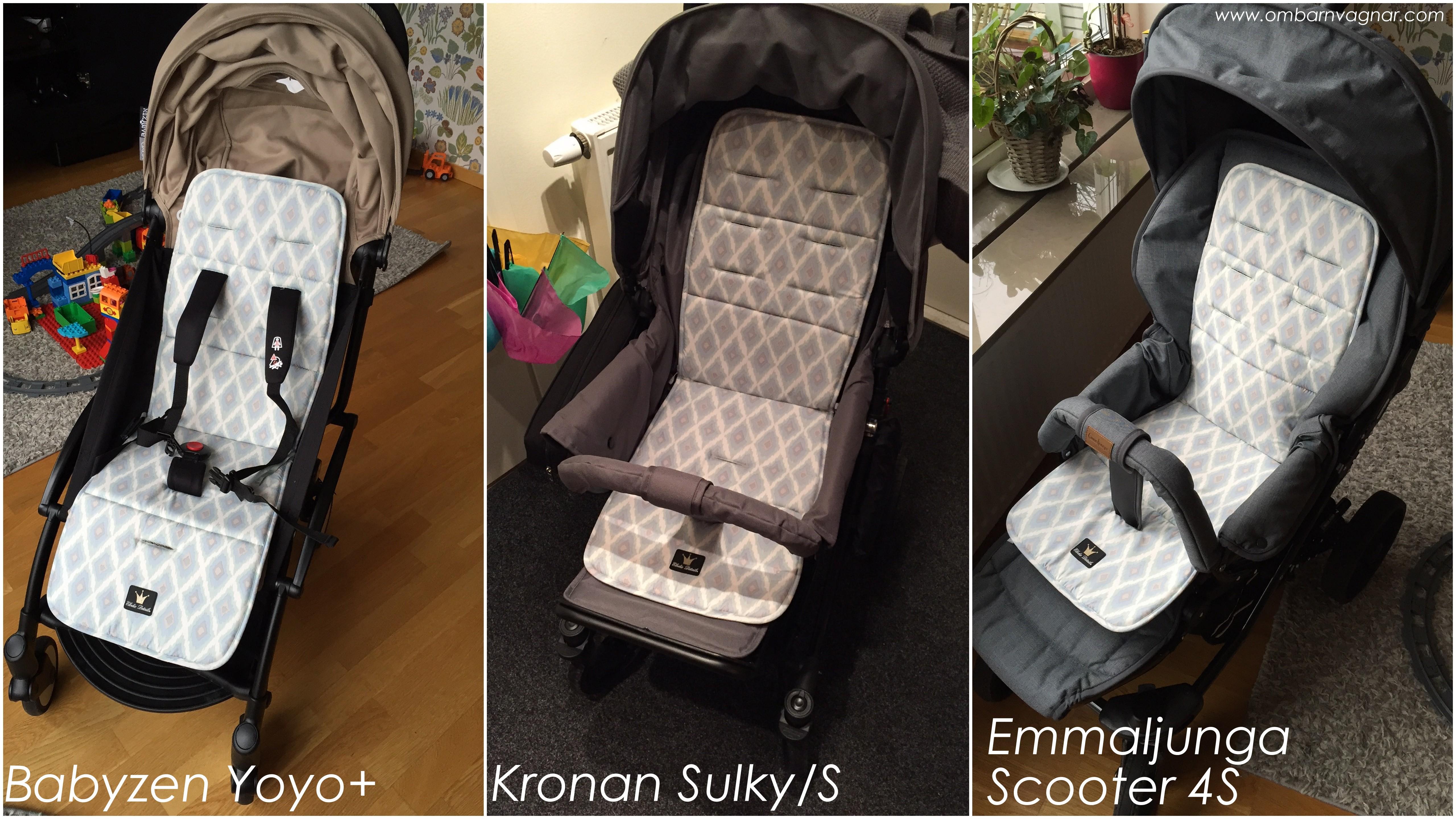 sittdyna barnvagn fårskinn