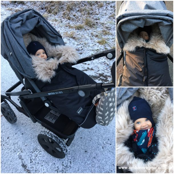 Så funkar BOZZ Åkpåse Lammskinn i barnvagnen